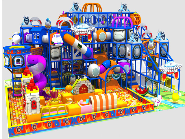 Attractions Proof Indoor Playground Big Slides For Sale