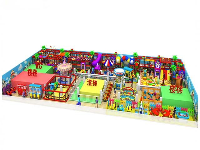China Factory Kids Plastic Fence Soft Indoor Playground Area Custom Kids Indoor Playground