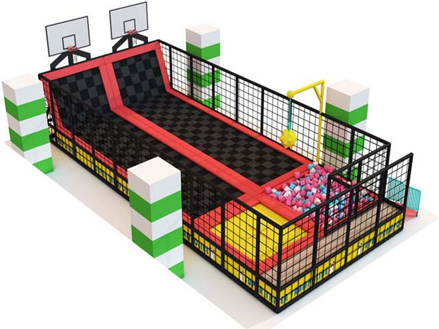 Warehouse Trampoline From Qilong Company With Basketball