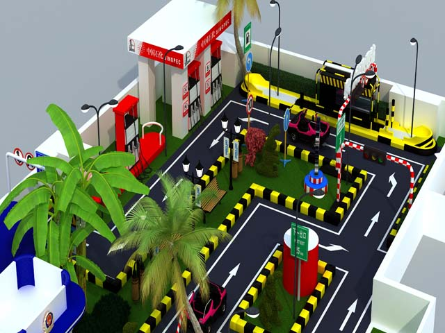indoor mini traffic town