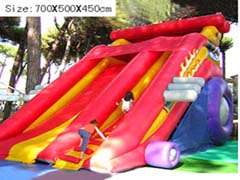 inflatable car track