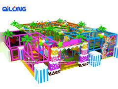 Candy theme castle style playground equipment for kids