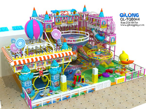 Children  fiber glass slide Candy castle playground