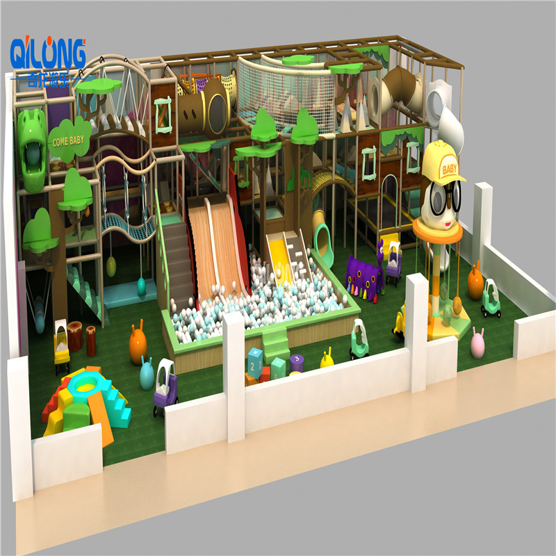 Ihram Kids For Sale Dubai: QILONG Modern Theme Indoor Playground Slide For Hot Sale