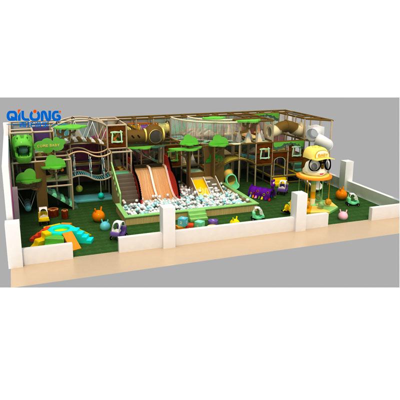 QILONG Modern Theme Indoor Playground Slide For Hot Sale