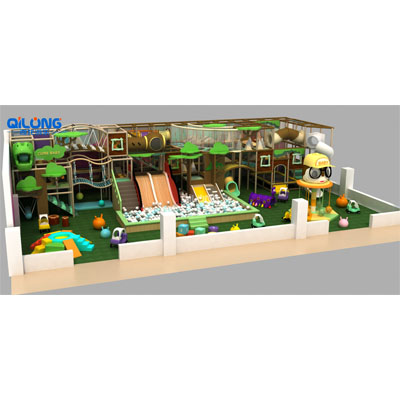 QILONG modern theme indoor playground slide for hot sale