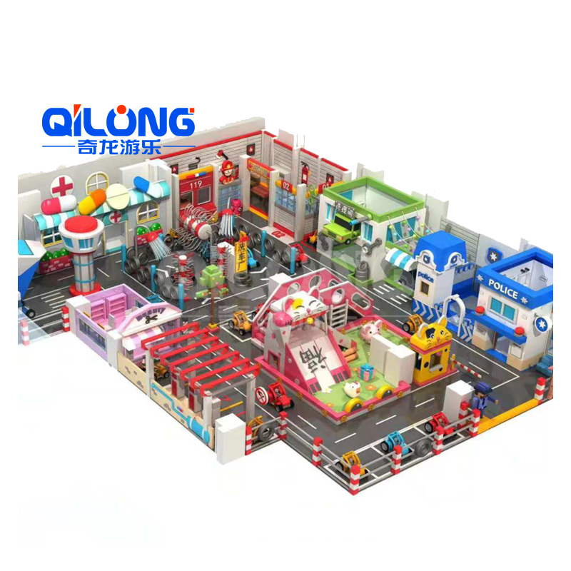 Kids Playground Mini Traffic town with Role play house