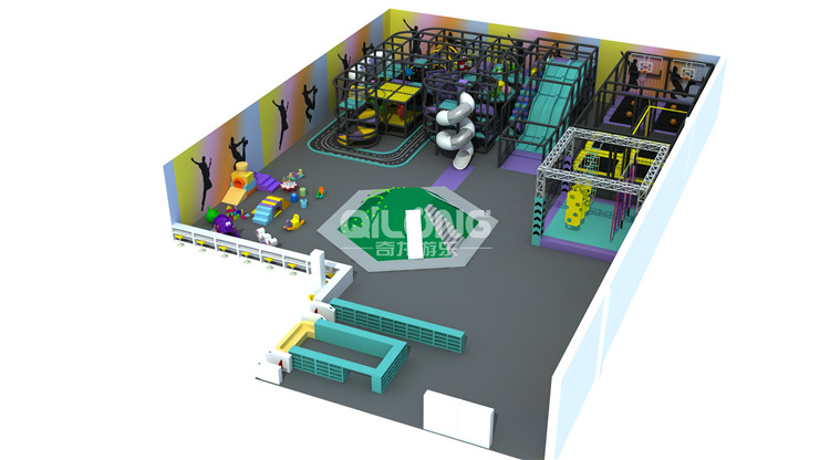 2020 NEW professional customized indoor playground equipment with plastic slide and Ningja