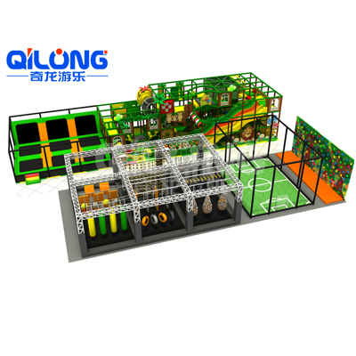 Jungle Theme Indoor Playground with Ninja