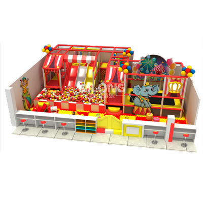 Qilong circus theme kids indoor playground equipment for fun