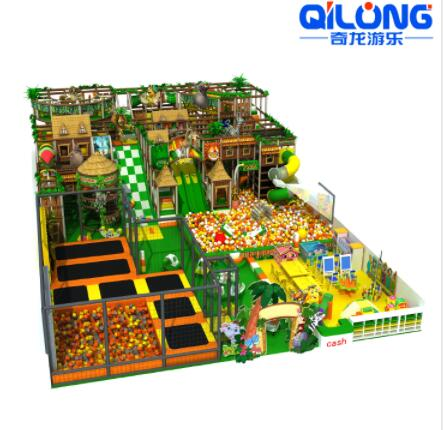 2020 New design jungle theme kids soft play equipment indoor playground for amusement park