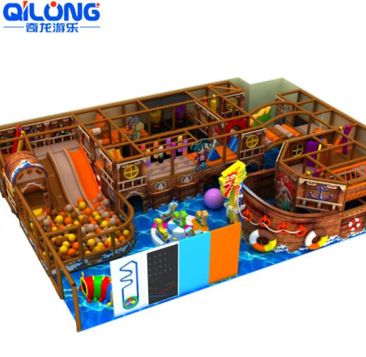 Customized Dragon Boat Toddler Soft Play Climbing Games Kids Indoor Playground For Sale